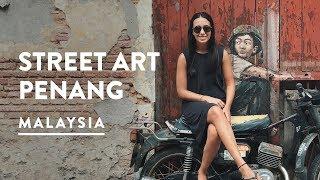 STREET ART & CHEW JETTY - GEORGETOWN, PENANG | Malaysia Travel Vlog 088, 2017