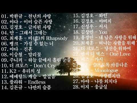한국 가요 락 발라드 모음 [광고 1도 없음]