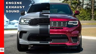 2021 Dodge Durango SRT Hellcat vs Jeep Grand Cherokee Trackhawk Engine and Exhaust Sound Comparison