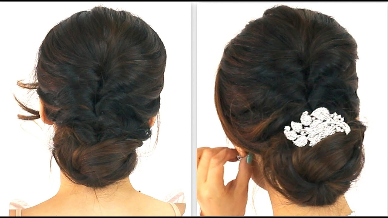 Indian Hair Styles: EVERYDAY BRAIDED BUN PROM
