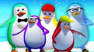 Fünf kleine Pinguine | reime für kinder | kinderreime | Five Little Penguins | Kids Tv Deutschland