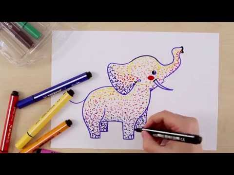 How to draw an elephant (STABILO Tutorials, intermediate)