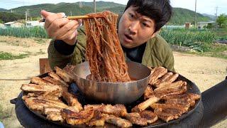 불마왕라면에 이은 또 하나의 매운 맛! 불마왕 냉면!!에 돼지갈비까지~ (Hot devil spicy Naengmyeon) 요리&먹방!! - Mukbang eating show