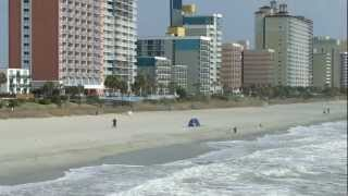 Myrtle Beach shore from pier 14.