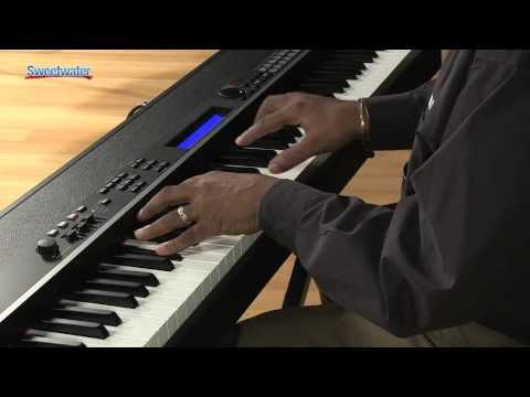 Yamaha CP4 Stage 88-note Wooden Key Stage Piano Demo - Sweetwater Sound