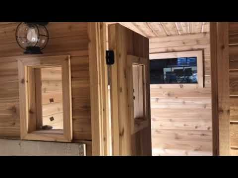 video Wood Burning Mobile Sauna from Custom Mobile Saunas