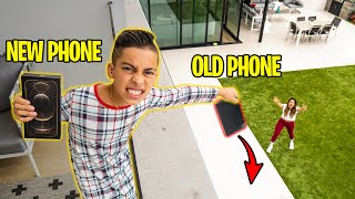 BREAKING My Parent's PHONE, Then SURPRISING Them with NEW iPHONE 12! | The Royalty Family