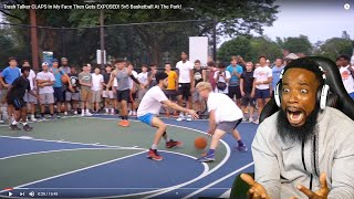 TJass CAUGHT HIS ANKLE! Trash Talker CLAPS In My Face Then Gets EXPOSED! 5v5 Basketball At The Park!