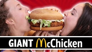 DIY GIANT McCHICKEN SANDWICH