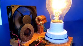220 Volts Light bulb generator - Make New science project experiment 2018 at home