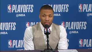 Damian Lillard Postgame Press Conference | Thunder vs Trail Blazers Game 5