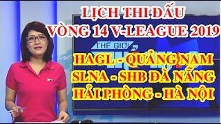 Lịch thi đấu vòng 14 V-League 2019 | HAGL vs Quảng Nam | Hải Phòng vs Hà Nội | SLNA vs Đà Nẵng