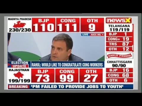 Madhya Pradesh Results live 2018, Rajasthan result LIVE, Chhattisgarh results LIVE, MP Election LIVE