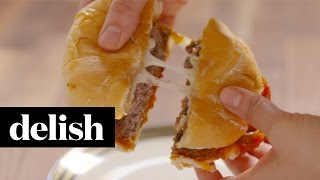How To Make Pizza Burgers | Delish