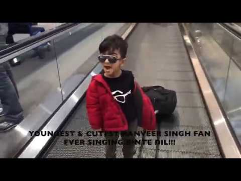 YOUNGEST & CUTEST RANVEER SINGH FAN EVER SINGING BINTE DIL!!!