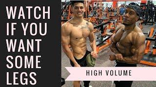 GROW THEM LEGS | High Volume Leg Day (with Branden Vasquez)
