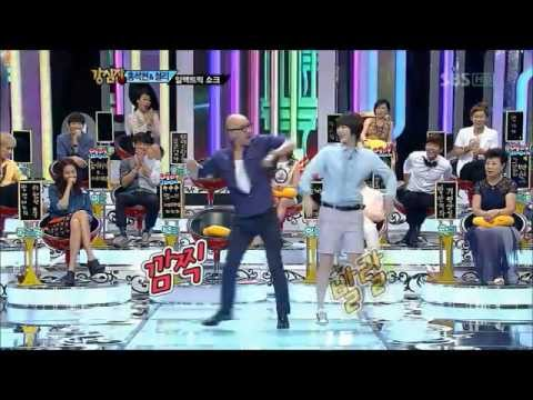 Hong Suk Chun and Sulli dance to