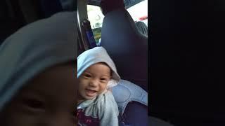 Baby in the car brrooom