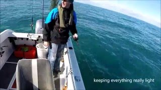 UK Boat Fishing. South Coast wrecking with Lures and Jigging.