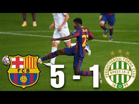 Barcelona vs Ferencvaros [5-1], Champions League, Group Stage 2020/21 - MATCH REVIEW