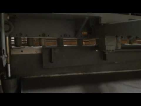"2008 ATLANTIC MODEL HDE -1014  HYDRAULIC POWER SQUARING SHEAR, 10' X 1/4"""