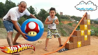 PISTA HOT WHEELS  c/ Tijolinhos do Super Mario c/ Lucas