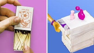 20 DIY DOLLHOUSE FURNITURE AND BARBIEDOLL CRAFTS