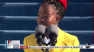 Amanda Gorman reads a poem at inauguration