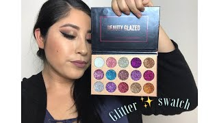 Glitter Pigment Pallet Swatched