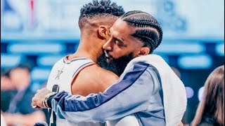 Russell Westbrook Dedicates His Historic Performance To Nipsey Hussle   THUNDER vs LAKERS   4.2.2019