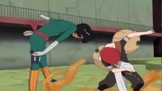 Gaara vs Rock Lee Full Fight English Dub [720p] HD