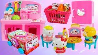 BỘ ĐỒ CHƠI NẤU ĂN - NHÀ BẾP & XE TÌM KẸO HELLO KITTY - Baby Doll Kitchen Cooking