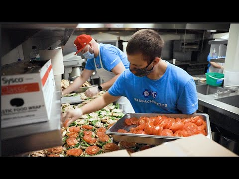 Blue Cross distributes its 50,000th meal at the Weymouth Food Pantry.