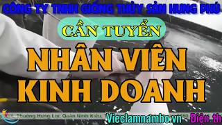 Tuyển Nhân viên kinh doanh LƯƠNG TỐI THIỂU 9 TRIỆU/THÁNG tại các tỉnh Long An, Tiền Giang, Bế Tre ..