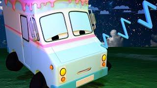 Tiny Town - The ice truck has insomnia - Construction Cartoons for kids ! Bulldozer
