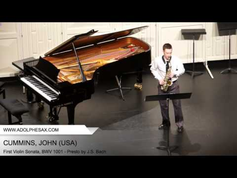 Dinant 2014 - CUMMINS, JOHN (First Violin Sonata, BWV 1001 - Presto by J.S. Bach)