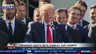 TRUMP MEETS CHAMPS: President honors 2019 Stanley Cup winners St. Louis Blues