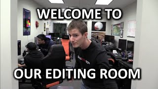 New Editing Den Tour - So much swag & so many decorations!