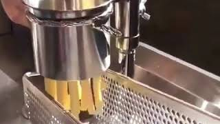 big potato long french fries maker machine hand press to make the footlong fries & chips