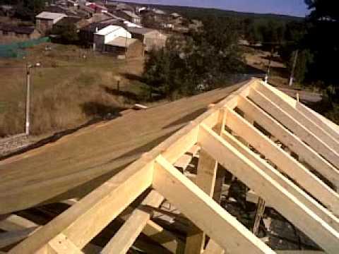 Hacer construir una cercha de estructura de madera para techos musica movil - Estructura madera laminada ...