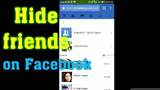 how to hide your facebook friends list on mobile 2018 | fb friends hidden