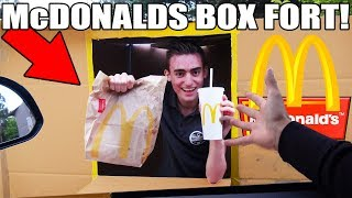 McDONALDS BOX FORT CHALLENGE!! 📦🍔 (FAST FOOD RESTURANT!)