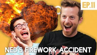 Ned's Firework Accident - The Try Guys Podcast - The TryPod Ep. 11
