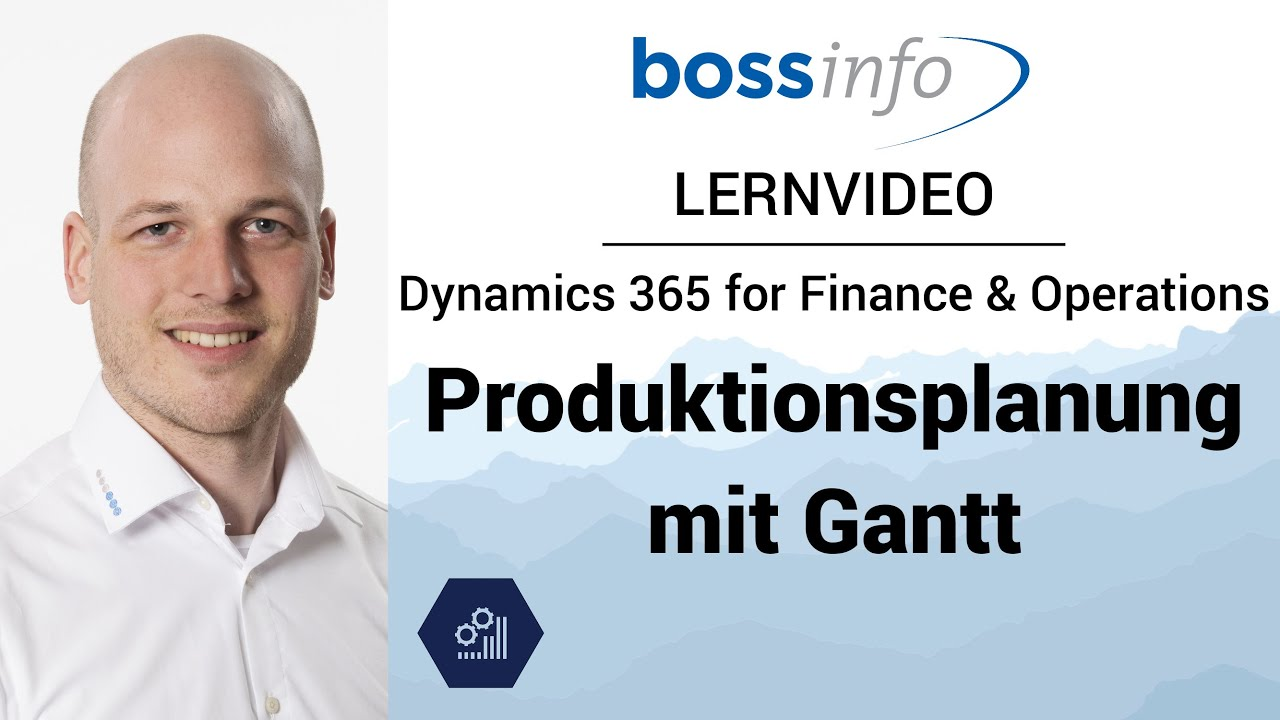Microsoft Dynamics 365 for Finance and Operations, Enterprise - Produktionsplanung mit Gantt