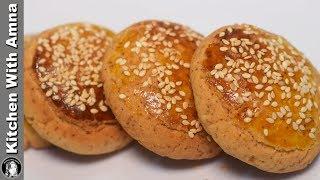 Kashmiri Kulcha Recipe Without Oven - Tea Time Recipes - Kitchen With Amna