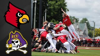 #7 Louisville vs #10 East Carolina Super Regional Game 2 | College Baseball Highlights