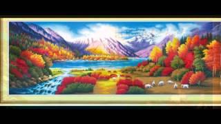 50 bức Tranh thêu chữ thập phong cảnh thiên nhiên kỳ vĩ đẹp nhất