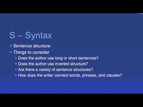 Vocabulary to Describe Literary Devices