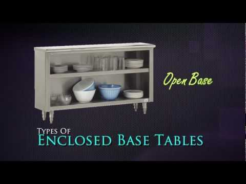 Enclosed Base Tables by Advance Tabco