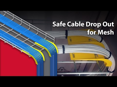Safely drop cables out of EzyMesh